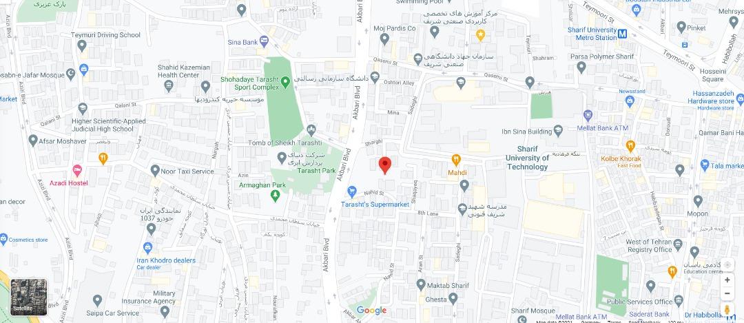 آدرس شرکت آسانک بر روی نقشه گوگل